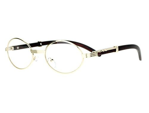 3e0f38ed95d SA106 Art Nouveau Vintage Style Oval Metal Frame Eye Glasses – SunglassFair