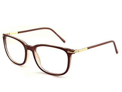 e6eb62e8664 Happy Store CN79 High Fashion Metal Temple Horn Rimmed Clear Lens Eye  Glasses