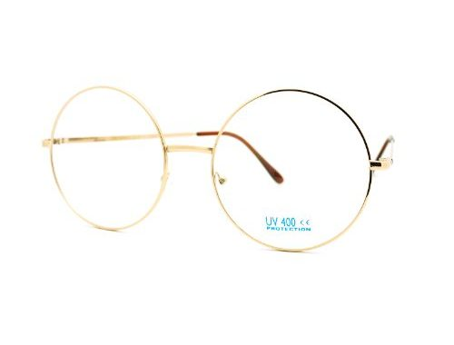 98fceb583db Super Oversized Round Circle Frame Clear Lens Glasses