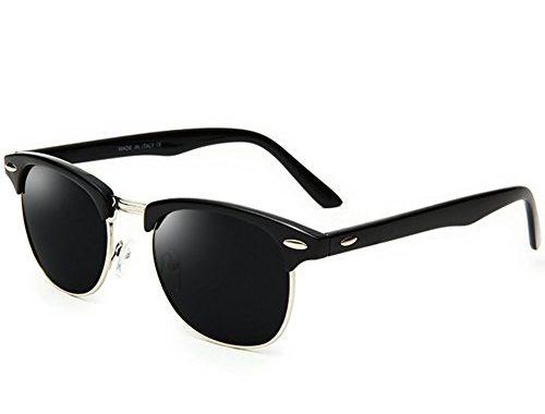 ddaa4e7a4a Joopin Semi Rimless Polarized Sunglasses Women Men Retro Brand Sun Glasses  – SunglassFair
