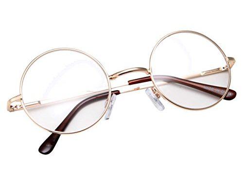 1c0e35f5e91 grinderPUNCH – Non-Prescription Round Circle Frame Clear Lens Glasses –  SunglassFair