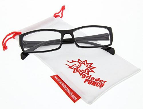 7f8d7d4d68c grinderPUNCH Fake Plastic Rim Clear Lens Plano Reading Glasses for Men and  Women