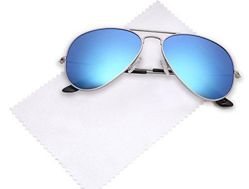 d83b33d56b JETPAL Premium Classic Aviator UV400 Sunglasses w Flash Mirror Lenses –  Choose From Adult or Kids Sizes – SunglassFair