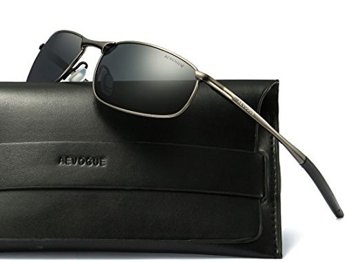4f48605da0f AEVOGUE Polarized Sunglasses For Men Rectangle Metal Frame Retro Sun Glasses  AE0535 – SunglassFair