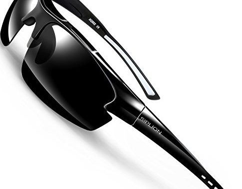 e5ad0d485bb SIPLION Men s Polarized Sunglasses Sports Cycling Fishing Golf TR90  Superlight Frame – SunglassFair
