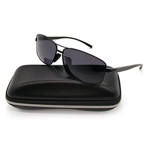 b7be62b87e Polarized Sunglasses for Men Sports Driving Fishing Lightweight Rectangular  Metal Frame 100% UV Protection – SunglassFair
