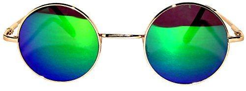 76809a814a2 Retro Round Circle Colored Vintage Tint Sunglasses Metal Frame OWL