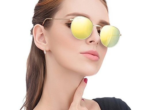 ee53ebca1a4 LianSan Classic Metal Frame Round Circle Mirrored Sunglasses Men Women  Glasses 3447 – SunglassFair
